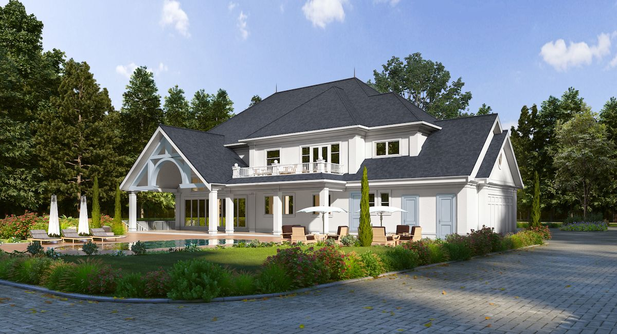 10,000 sqft Anmore Home (back)