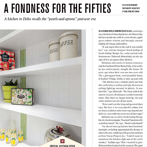Vancouver Home Magazine - Feature Kitchen 2016