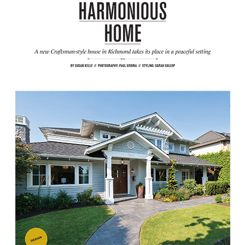 Vancouver Home Magazine - Feature Home 2015