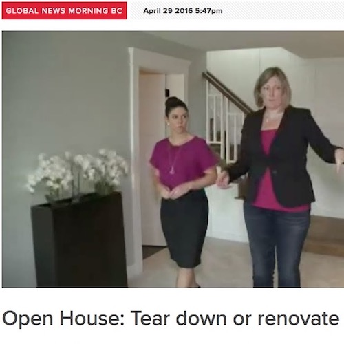 Global News - Open House; Tear Down or Renovate
