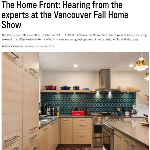 Vancouver Sun - The Home Front; Experts at VHDS 2018