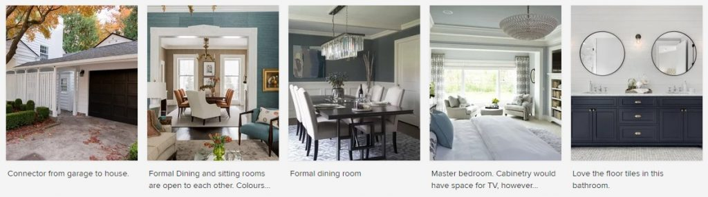 images of design style with comments what is liked about them to help designer envision what client wants