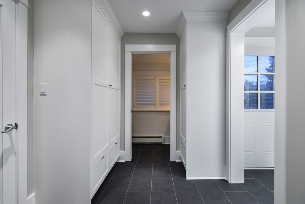 mudroom closed off from main house by SGDI