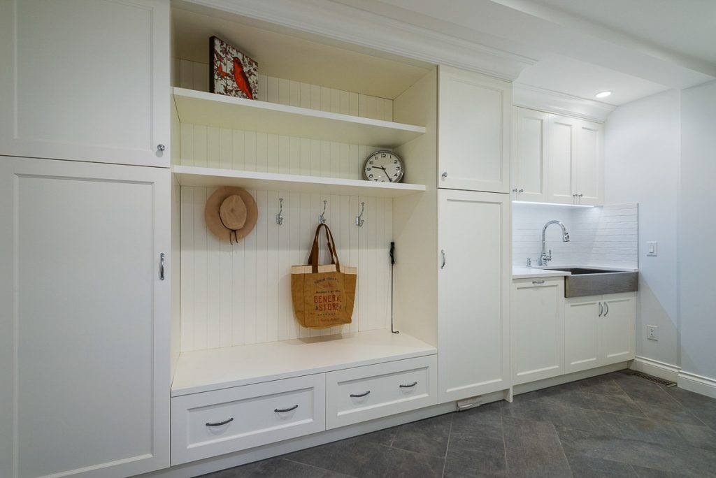 mudroom with wash basin for clean up by SGDI