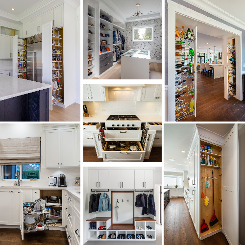 Various ideas of built in home organization solutions
